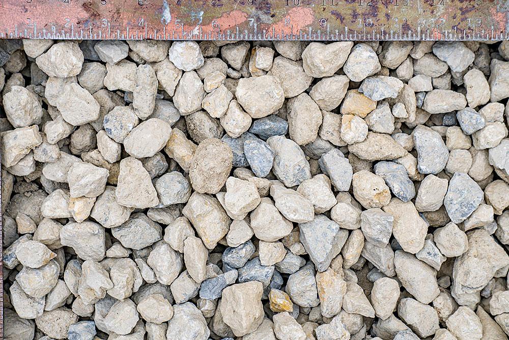 "1 1/4"" clean limestone"